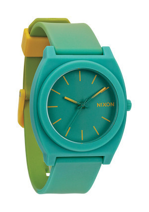 The Time Teller P Yellow / Teal Fade | Nixon #fashion #nixon #watch