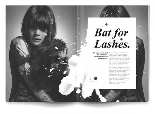 Volture Magazine on the Behance Network #white #print #nice #black #bat #lashes #for #and #folder #splatter #brochure