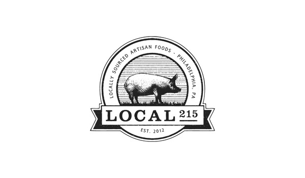 Elevn Co. / Local 215 Logos #circle #minimalism #clean #food #illustration #drawn #logo #hand #sketch
