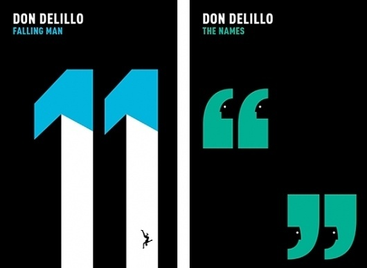 Creative Review - Don DeLillo covers by Noma Bar #print #noma #books #covers
