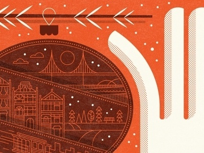 Dribbble - 2011 Holiday Card by Nate Luetkehans #illustration #color #texture