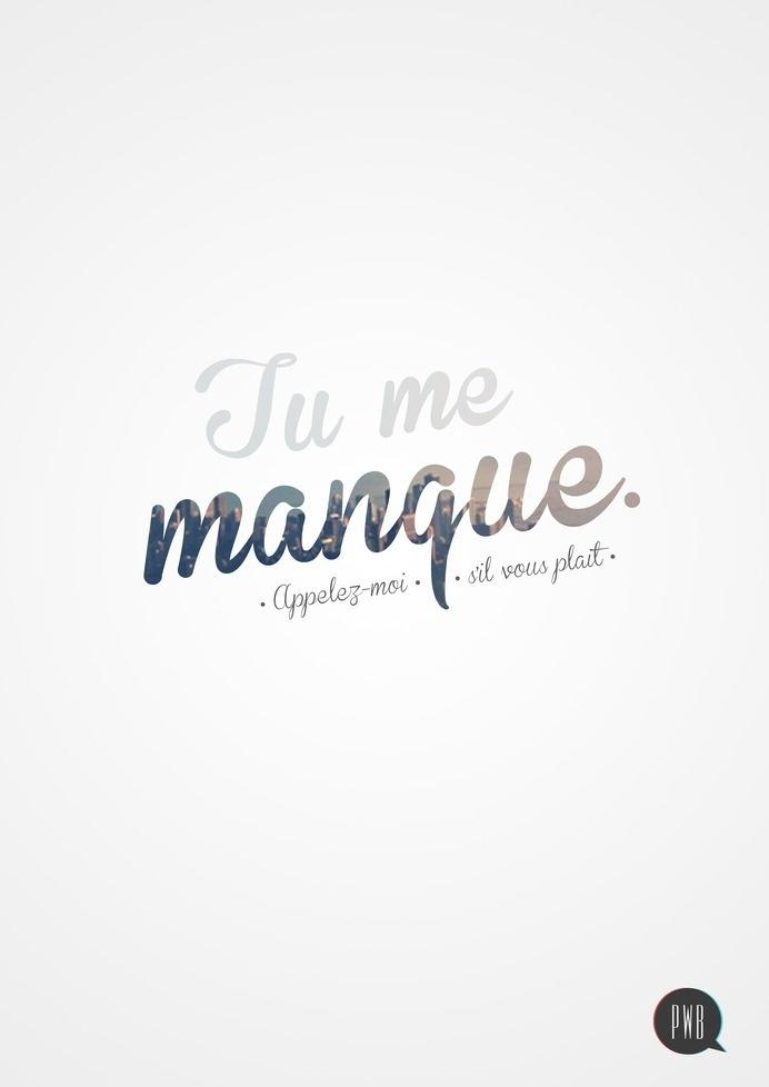 Tu me manque! #inspiration #typography