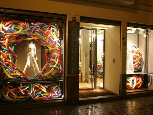 La Bohème windows Spring Summer 2013 by Bomarzo, Valencia Spain visual merchandising #window #baloon