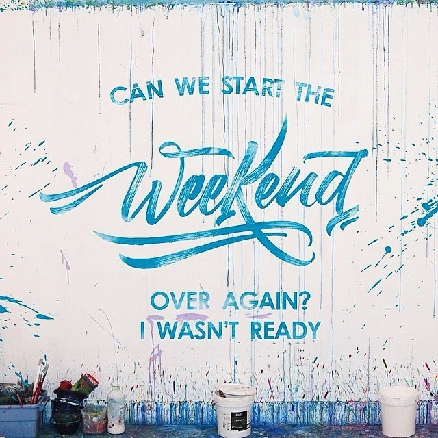 Weekend Typography #lettering #hand #weekend #typography