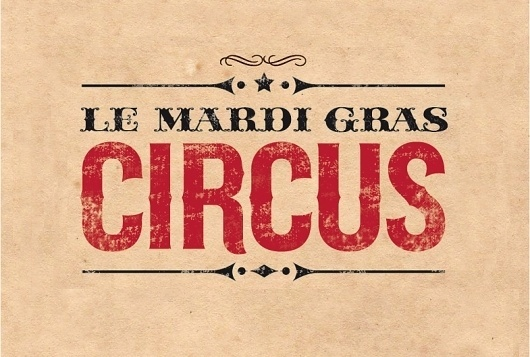 Le Mardi Gras Circus | Silvia Mallofre #mallofre #logo #circus #silvia