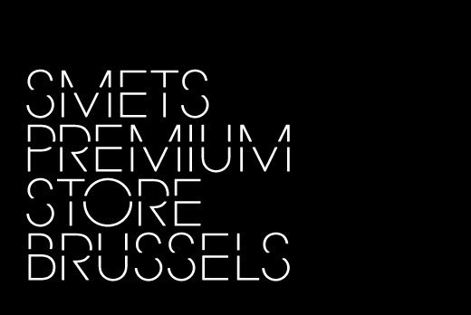 coast — Custom typeface design for SMETS stores #identity #typography