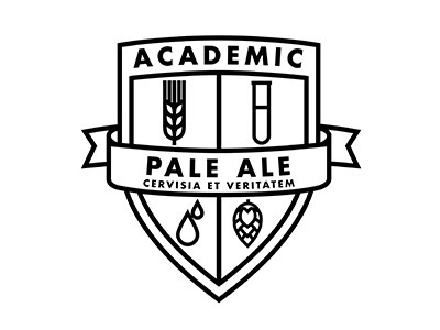 Academic Brewery #brewery #beer #badge #crest #shield #logo
