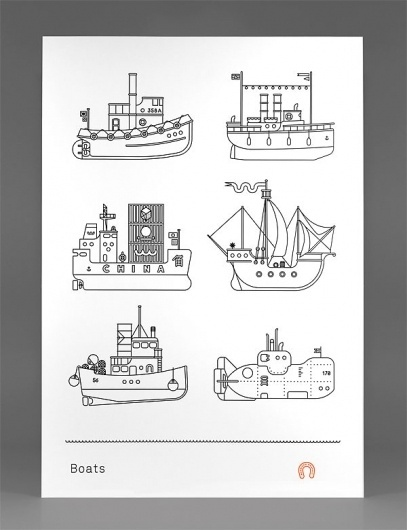 Boats Poster - FPO: For Print Only #illustration #design #graphic