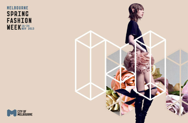 Melbourne Spring Fashion Week Concept & Guidelines on Behance #design #logo #identity #creative #fashion #black and white #flowers #guidelin