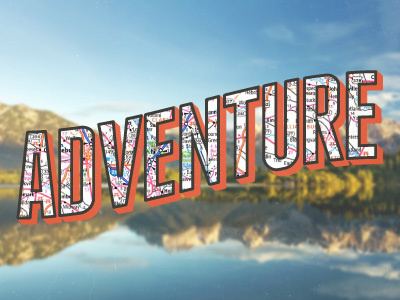 Adventure #dribble #type #travel #map