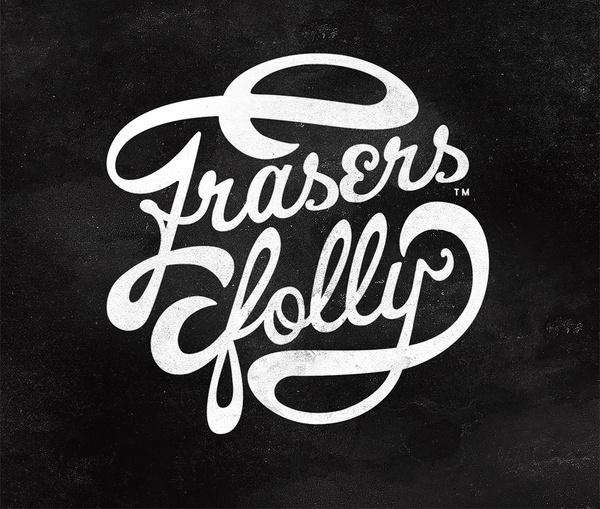 Frasersfolly_logo_lukeritchie #beer #white #branding #design #label #logo #black #craft #vintage #type #typography