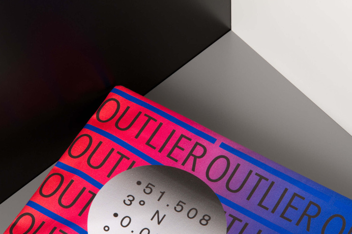 Outlier branding modern hipster graphic design blue red stationery