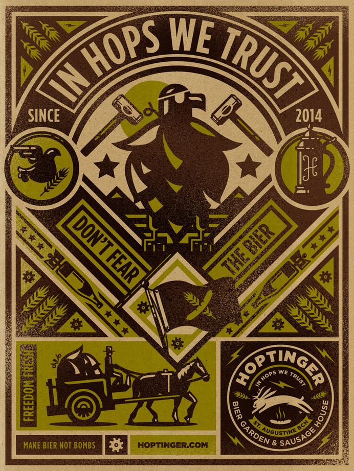 Hoptinger #hoptinger #bier #poster #illustraion #kendrick kidd