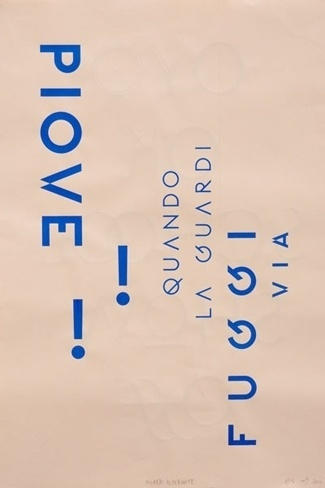 Buamai - Qualité Graphique Garantie – Milano #beige #design #graphic #poster #blue #typography