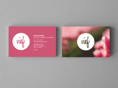 Vief Business Card #business #pink #card #natural #nature #type #green