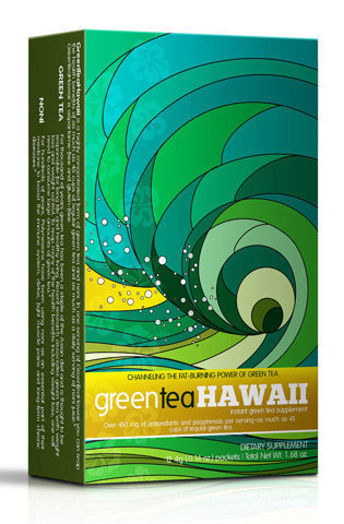 GreenTeaHawaii - TheDieline.com - Package Design Blog #packaging