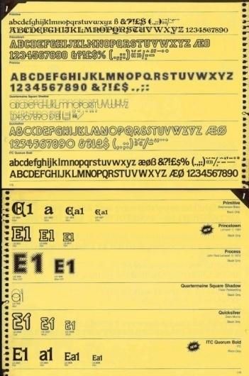 NTHN blog #font #transfer #typeface #dry #letraset