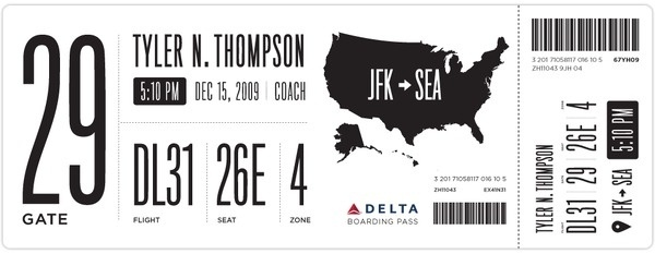 Redesigning the Boarding Pass - Journal - Boarding Pass /Â Fail #usability