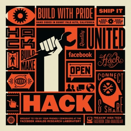 Hack Poster | The Graphic Works of Ben Barry #barry #design #orange #black #poster #ben