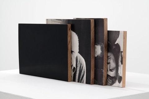 FFFFOUND! | defacedbook (Will Rogan Mediums 4 (II), 2010Â Paper, wood,...) #wood #square #black #photograph