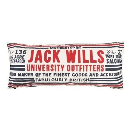 The Longmead Bolster Cushion   Jack Wills #british #vintage #typography