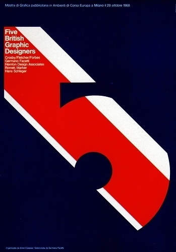 1960s Advertising Poster - Five British Graphic Designers #1960s #poster