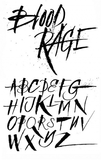 All sizes | Art therapy/experimental lettering | Flickr - Photo Sharing! #type #alphabet #lettering #ink #seb lester