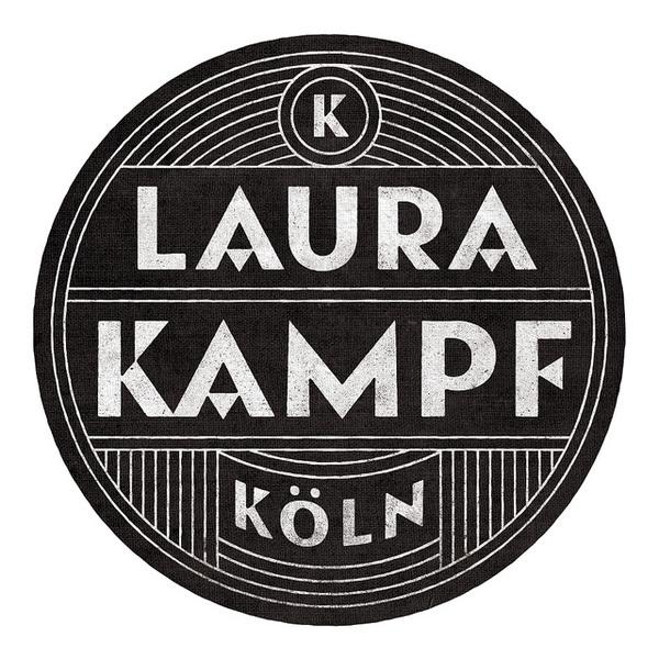 Laura Kampf #logo #white #black #and