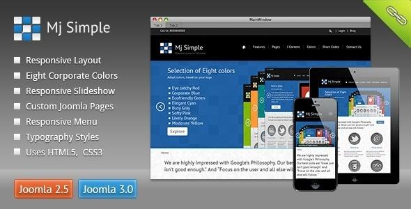 Responsive Joomla Template #template #responsive #design #joomla