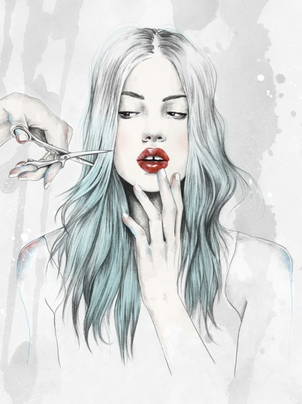 Elegant Digital Art Illustrations by Esra Røise  #drawing #paintings art #Illustrations