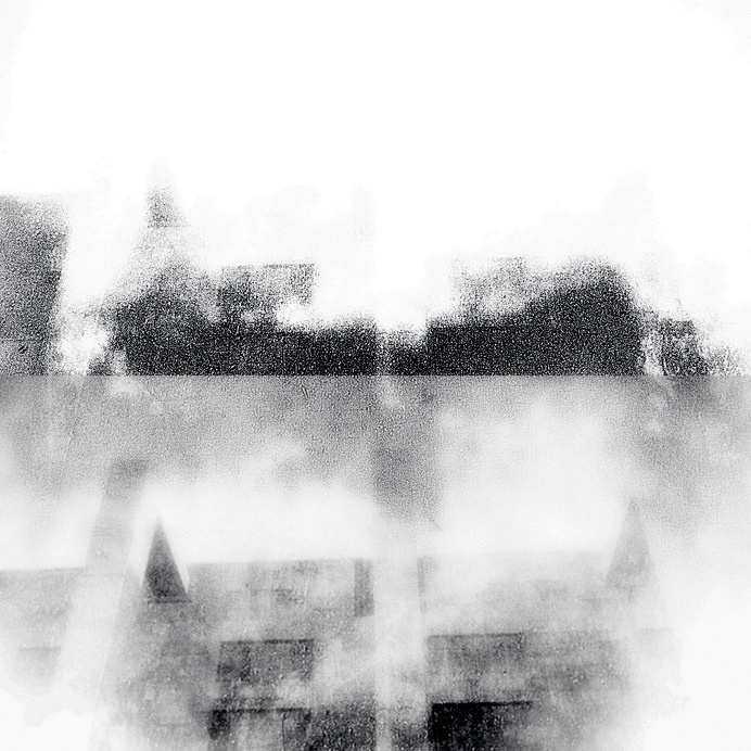 MEGACITY FALLING 01 #white #black #johansson #digital #art #and #daniel