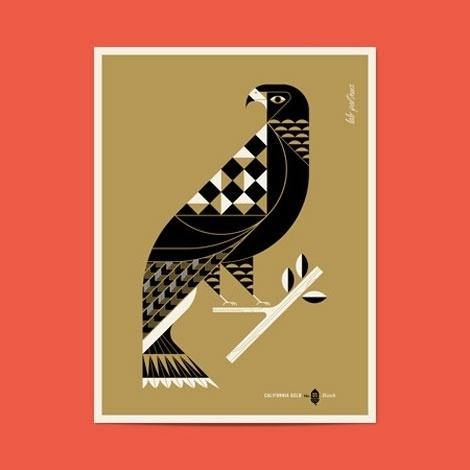grain edit · Lab Partners: California Gold Posters #illustration #vector #geometric #bird