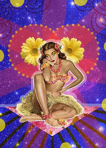 Cambiemos de tema | Peperina Magenta #creative #arte #amor #woman #color #digital #ilustraciã³n #vintage #ilustration #art #collage #colour #love #work