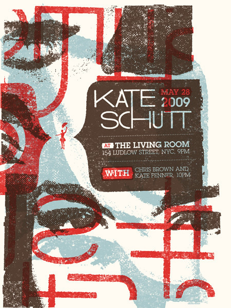 GigPosters.com - Kate Schutt - Chris Brown - Kate Fenner #gig #screenprint #poster