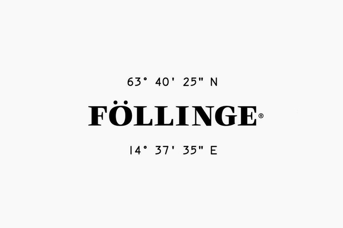 Logotype designed by Amore for Swedish organic skincare range from Föllinge #logo