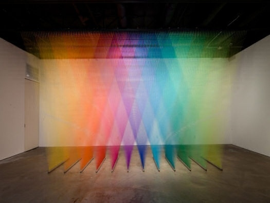 Plexus No. 7, 8 & 9 by Gabriel Dawe #color #art #gradient