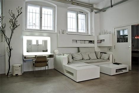 Alexander Gnädinger studio space at iainclaridge.net #apartment #studio