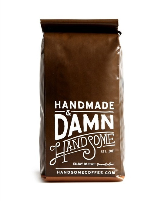 Handmade & Damn Handsome Coffee | Free Flavour #packaging #coffee