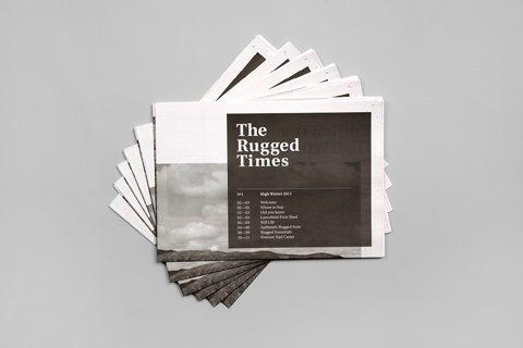 FFFFOUND! | Hunt Studio | Multi-disciplinary design studio | Melbourne — Driza–Bone: The Rugged Times #cover #type #paper #identity