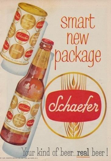 Vintage Beer / Schaefer's Smart New Package #logo #design #youme
