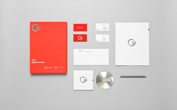 Anagrama | Grauforz #identity #red #stationery