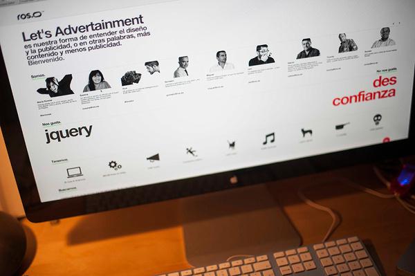 Ros Website on Behance #helvetica #minimal #webdesign #typography