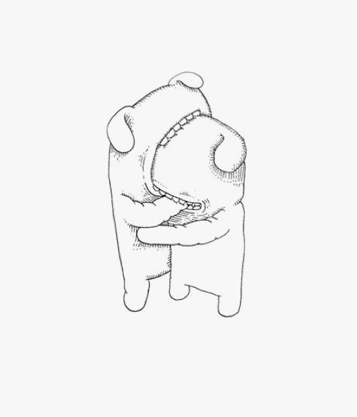Sevgi Love #bw #illustration #drawing