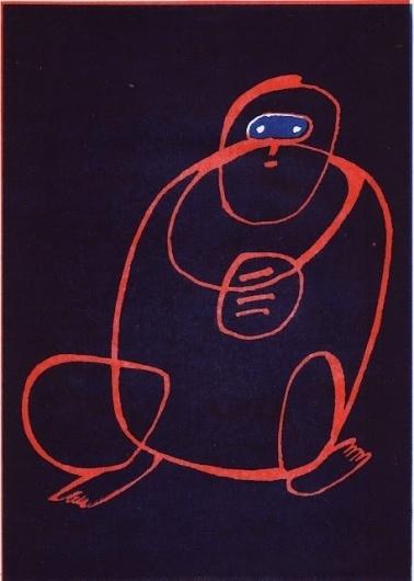 BINKUM #line #overlap #eyes #monkey #block #colour #feet