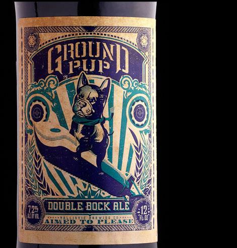 Ballistic Brewing Ground Pup #packaging #beer #label #bottle