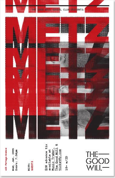 Metz concert poster