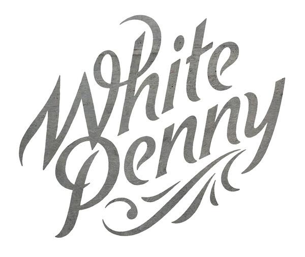 White Penny #simon #walker #handmade #typography