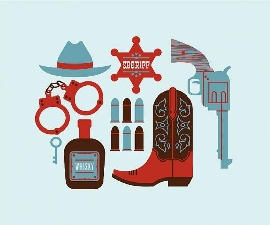 Luke Bott #sheriff #old #west #gun #illustration #hat #boot #cowboy