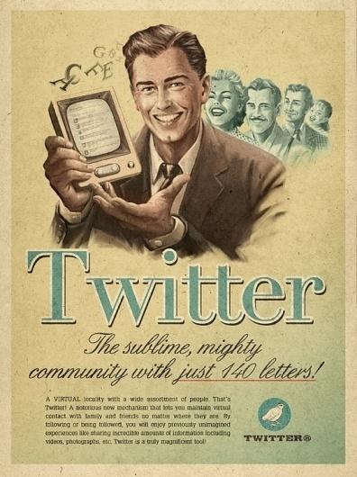 Retro Future Ads For Facebook, YouTube & Skype #illustration #twitter #retro