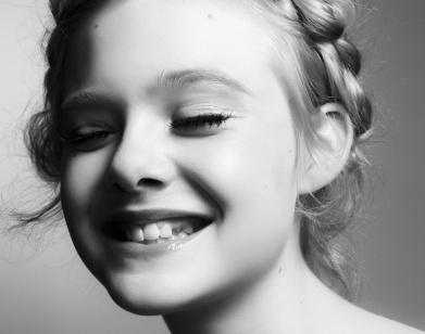 Elle Fanning - Interview Magazine #white #fanning #steven #pan #black #photography #and #elle #braids